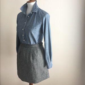 Old Navy wool skirt | Black + white | Sz 14
